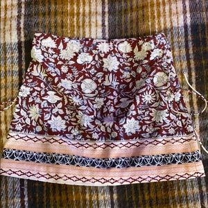 Floral Ambercrombie and Fitch mini skirt with ties